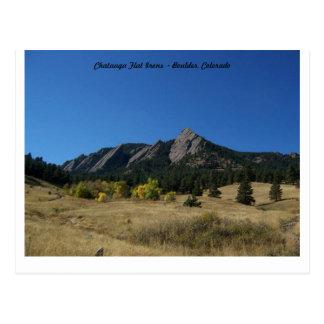 Chatauga Flat Irons in Boulder Colorado Postcard