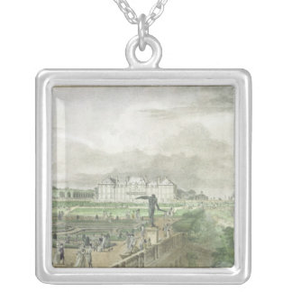 Chateau and Garden of Sceaux Silver Plated Necklace