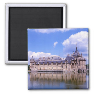 Chateau Chantilly, Oise, France Square Magnet