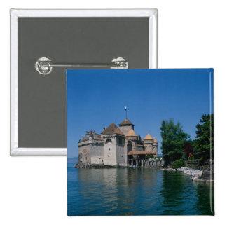 Chateau Chillon, Lake Geneva, Vaud Canton, 15 Cm Square Badge