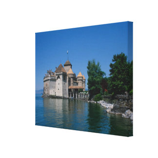 Chateau Chillon, Lake Geneva, Vaud Canton, Canvas Print