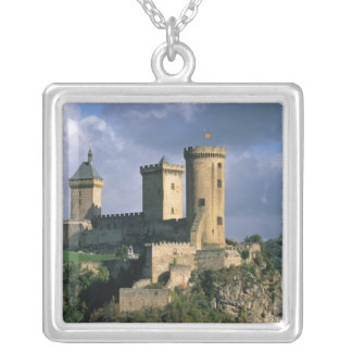 Chateau Comtal Chateau of the Counts of Silver Plated Necklace