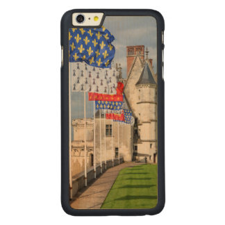 Chateau d'Amboise and flag, France Carved Maple iPhone 6 Plus Case