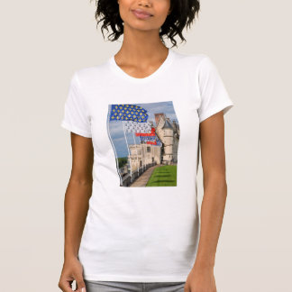 Chateau d'Amboise and flag, France T-Shirt