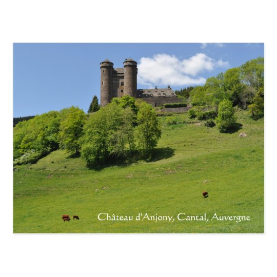 Château d'Anjony, Auvergne Postcard