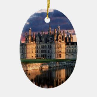 chateau de chambord Castle,Loire Valley, France Ceramic Oval Decoration