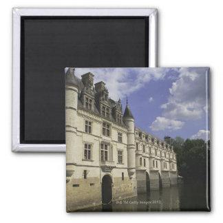 Chateau de Chenonceau in France Square Magnet