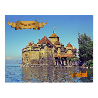 Chateau de Chillon, Switzerland Postcard