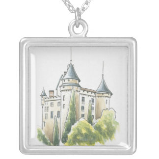 Chateau de Mercues, France Silver Plated Necklace