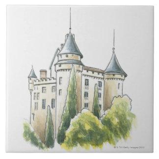 Chateau de Mercues, France Tile