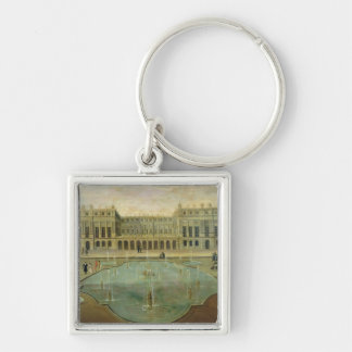 Chateau de Versailles from the Garden Side Silver-Colored Square Key Ring