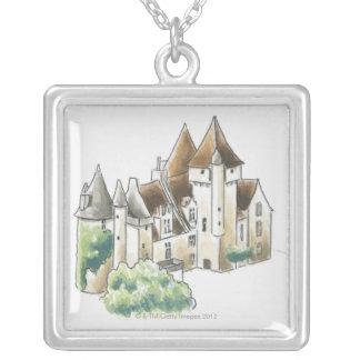 Chateau des Milandes, France Silver Plated Necklace