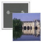 Chateau du Chenonceau, Loire Valley, 15 Cm Square Badge