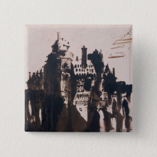 Chateau fortified by two Bridges 15 Cm Square Badge