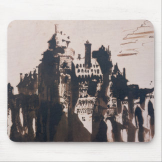 Chateau fortified by two Bridges Mouse Mat