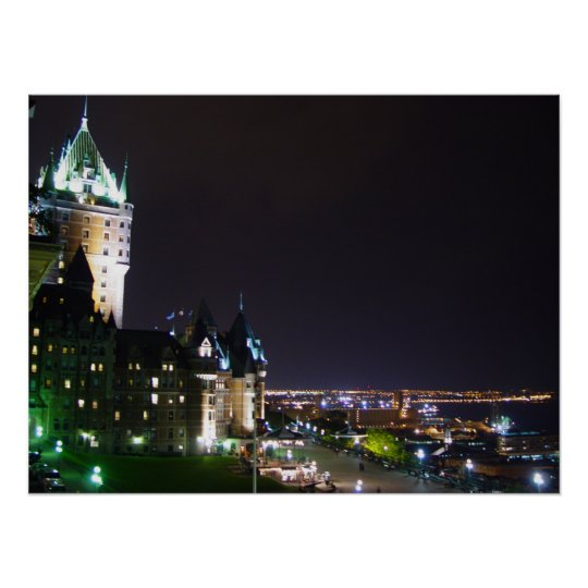 Chateau Frontenac Castle Boardwalk Quebec Poster