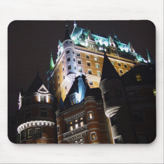 Chateau Frontenac Castle Lit Up At Night Mousepad