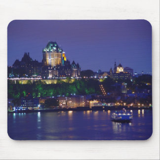 Chateau Frontenac Castle Night Quebec Mousepad