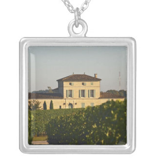 Chateau Lafleur Petrus and vineyard, in Pomerol, Silver Plated Necklace