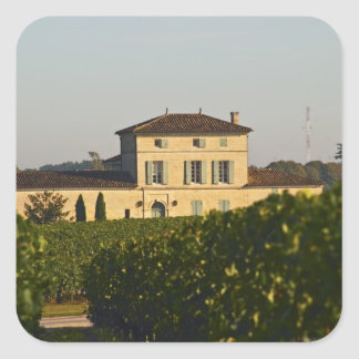 Chateau Lafleur Petrus and vineyard, in Pomerol, Square Sticker