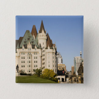 Chateau Laurier Hotel in Ottawa, Ontario, Canada 2 15 Cm Square Badge