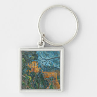 Chateau Noir, 1900-04 (oil on canvas) Silver-Colored Square Key Ring