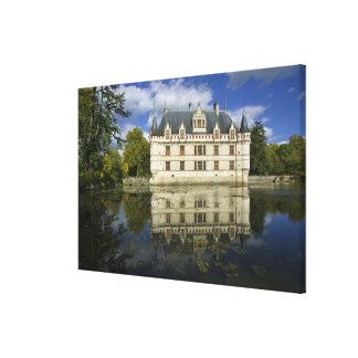 Chateau of Azay-le-Rideau, Indre-et-Loire, 2 Canvas Print