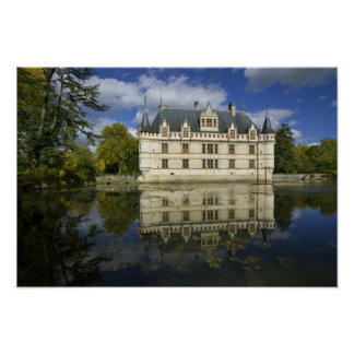 Chateau of Azay-le-Rideau, Indre-et-Loire, 2 Poster