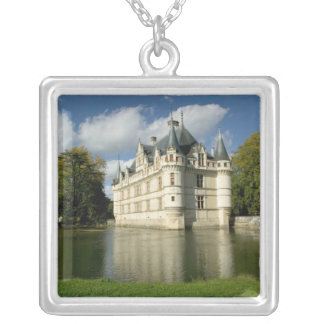Chateau of Azay-le-Rideau, Indre-et-Loire, 2 Silver Plated Necklace