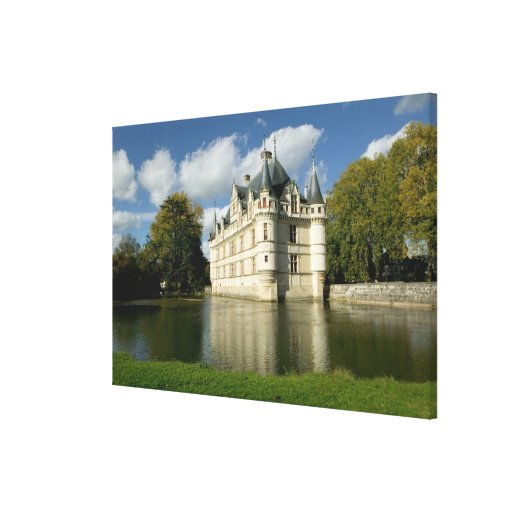 Chateau of Azay-le-Rideau, Indre-et-Loire, 3 Gallery Wrapped Canvas