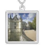 Chateau of Azay-le-Rideau, Indre-et-Loire, 3 Square Pendant Necklace