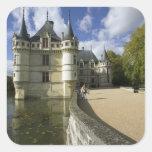 Chateau of Azay-le-Rideau, Indre-et-Loire, 3 Square Sticker