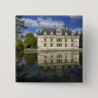 Chateau of Azay-le-Rideau, Indre-et-Loire, 4 15 Cm Square Badge