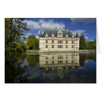 Chateau of Azay-le-Rideau, Indre-et-Loire, 4 Greeting Card
