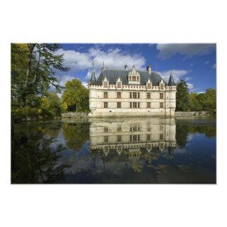 Chateau of Azay-le-Rideau, Indre-et-Loire, 4 Photo Print