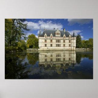 Chateau of Azay-le-Rideau, Indre-et-Loire, 4 Poster