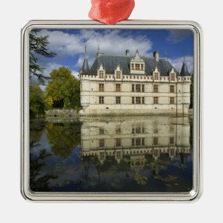 Chateau of Azay-le-Rideau, Indre-et-Loire, 4 Silver-Colored Square Decoration