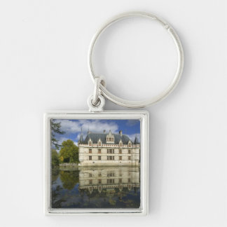 Chateau of Azay-le-Rideau, Indre-et-Loire, 4 Silver-Colored Square Key Ring