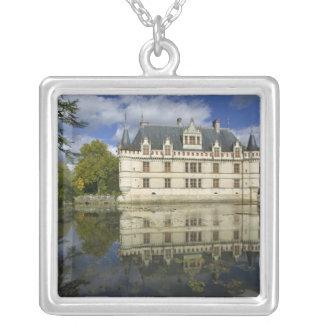 Chateau of Azay-le-Rideau, Indre-et-Loire, 4 Square Pendant Necklace