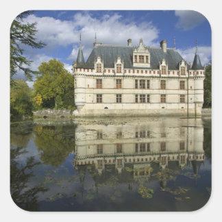 Chateau of Azay-le-Rideau, Indre-et-Loire, 4 Square Sticker