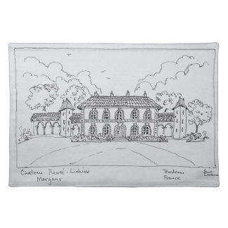 Chateau Prieure-Lichine, Margaux, Bordeaux Placemat