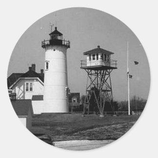 Chatham Lighthouse Round Sticker