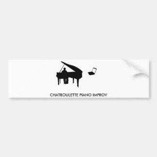CHATROULETTE PIANO IMPROV BUMPER STICKER