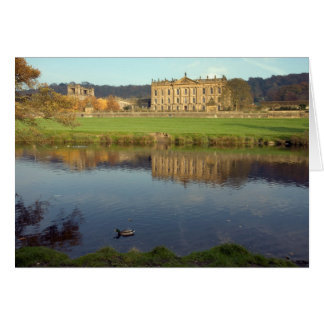 Chatsworth House in Derbyshire, England Card