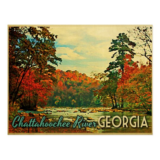 Chattahoochee River Georgia Postcard
