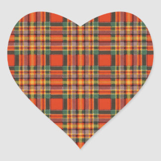 Chattan clan Plaid Scottish tartan Heart Sticker