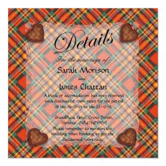 Chattan Scottish clan tartan - Plaid 13 Cm X 13 Cm Square Invitation Card