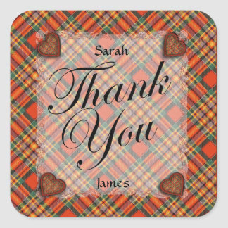 Chattan Scottish clan tartan - Plaid Stickers