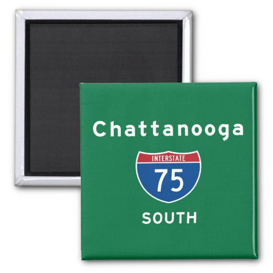 Chattanooga 75 square magnet