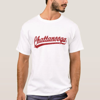 Chattanooga script logo in red T-Shirt